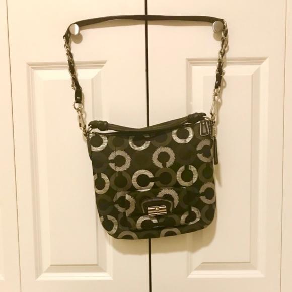 Coach Handbags - Coach Kisten Op Art Embroidered Hobo Bag